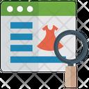 Ecommerce Web Clothing Online Shopping Icon
