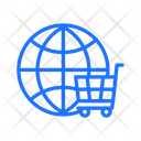 Global Shopping Basket Icon