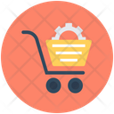 Shopping Cart Setting Shopping Cart Preferences Cog In Cart Icon