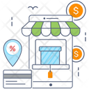 Ecommerce Mobile Commerce Online Buying Icon