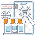 Ecommerce Shopping App Mobile App Icon