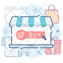 Ecommerce Online Shopping Web Shopping Icon