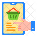 Shopping Mobilephone Busket Icon
