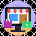 Online Shopping E Shopping Shopping Website Icon