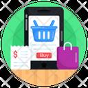 Mcommerce Mobile Shopping Online Shopping Icon