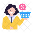Shopping Discount Ecommerce Discount Ecommerce Consultant Icon