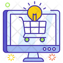 Ecommerce Solution Online Shopping Online Buying Icon