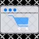 Ecommerce Website Shopping Website Online Shopping Icon