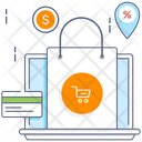 Ecommerce Website Online Shopping Online Shop Icon