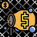 Economic Bubble Risk Bankruptcy Icon