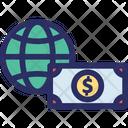 Economy Dollar Paper Money Icon