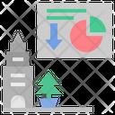 Graph City Economy Icon