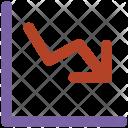 Economy Down Arrow Icon