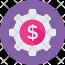 Cog Dollar Economy Icon