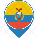 Ecuador Flag World Icon