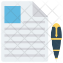 Create Write Document Icon