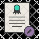 Edit Modify Certificate Icon