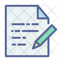 Document Write Letter Icon