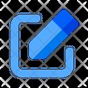 Edit Pencil Text Icon