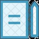 Paper Edit Sheet Icon