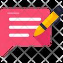 Write Message Comment Communication Icon