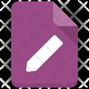 Edit File Document Icon