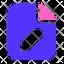 Edit Document File Icon