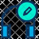 Music Edit Headphone Icon