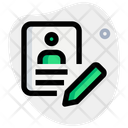 Edit Profile Edit Id Edit Account Icon