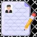 Write Cv Edit Profile Edit Document Icon