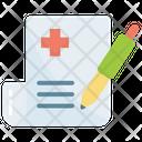 Clipboard Edit Medical Icon