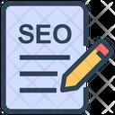 Seo Edit Document Icon