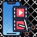 Edit Video Video Media Icon