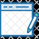 Edit Webpage Write Page Pencil Icon