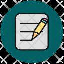 Edit Write Text Icon