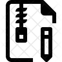 Edit zip Icon