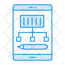 Mobile Drawing Design Icon
