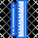 Pencil Ruler Tool Icon