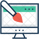 Design Paint Monitor Icon