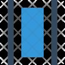 Editor Distribute Vertical Icon