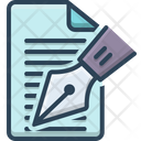 Editorial Notes Writer Icon