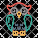 Education Owl Graduation Icon