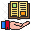 Hand Learning Ebook Icon