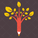 Education Tree Creative Icon