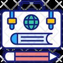Education Attache Case Briefcase Icon