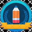 Education Badge Reward Marker Icon