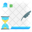Study Time Education Time Learning Time Icon
