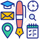 Education Tools Calender Graduation Hat Icon