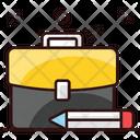 Educational Bag Portfolio Attache Case Icon