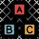 Educational Blocks Alphabetical Icon